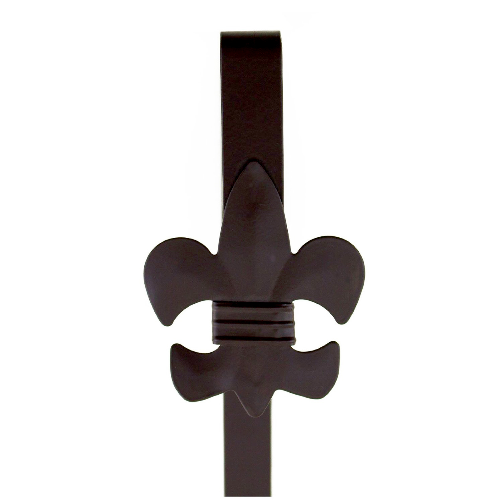 Bronze Fleur De Lis Over Door Holiday Decorative Wreath Hanger Hook